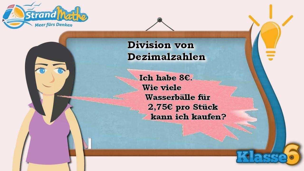 Dezimalzahlen Division || Klasse 6 ☆ Wissen - YouTube