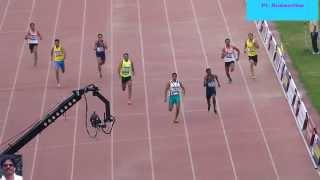400m Run Men final  National Open Athletics Championships-2014. New Delhi.