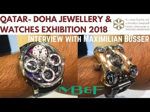 Doha Jewellery and Watches Exhibition 2018 Qatar MB&F Horological Machines Watches Maximilian Busser