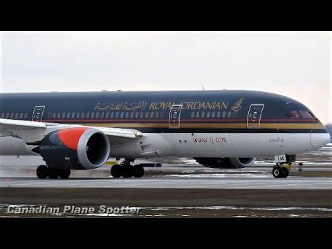 Royal Jordanian 787-8 Close-up Landing & Takeoff at Montreal-Trudeau Int'l Airport