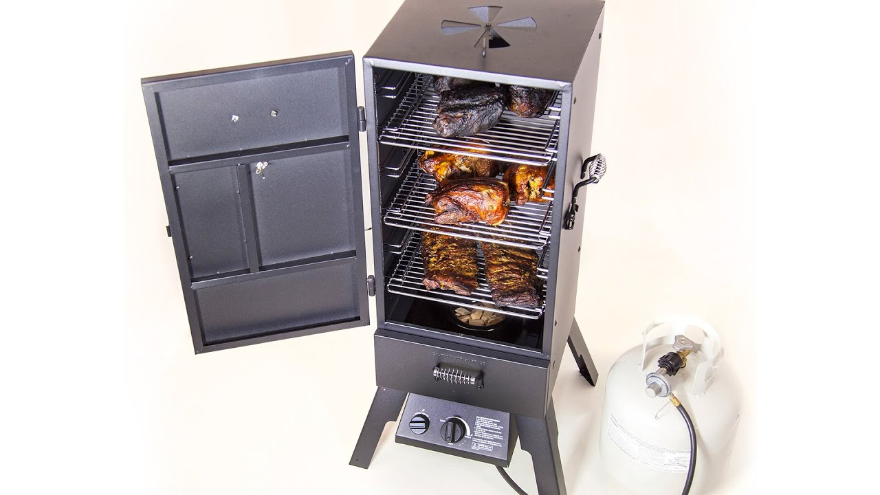 Char-Broil Vertical Gas Smoker - YouTube