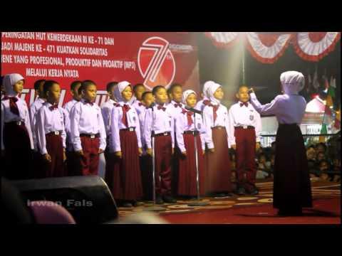 Indonesia Raya dan Hari Merdeka by Paduan Suara SDN 6 Kampung Baru Majene