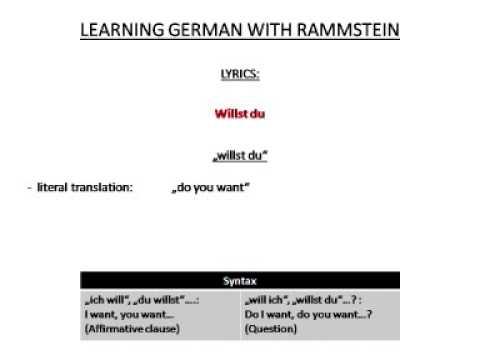 Willst du translation