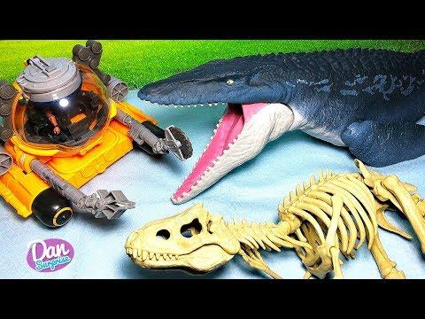 New Mosasaurus Quest for Indominus Rex Play Set! Jurassic World Fallen Kingdom Dinosaur Toys
