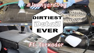 Detailing The Dirtiest Work Truck Ever! This Truck Is A Junkyard Dog!