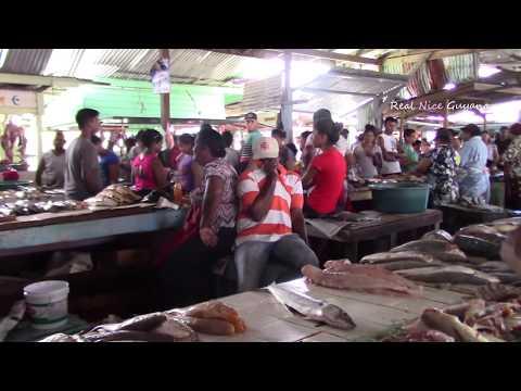 Mon Repos Fish Market, East Coast Demerara, Guyana, Caribbean (HD)