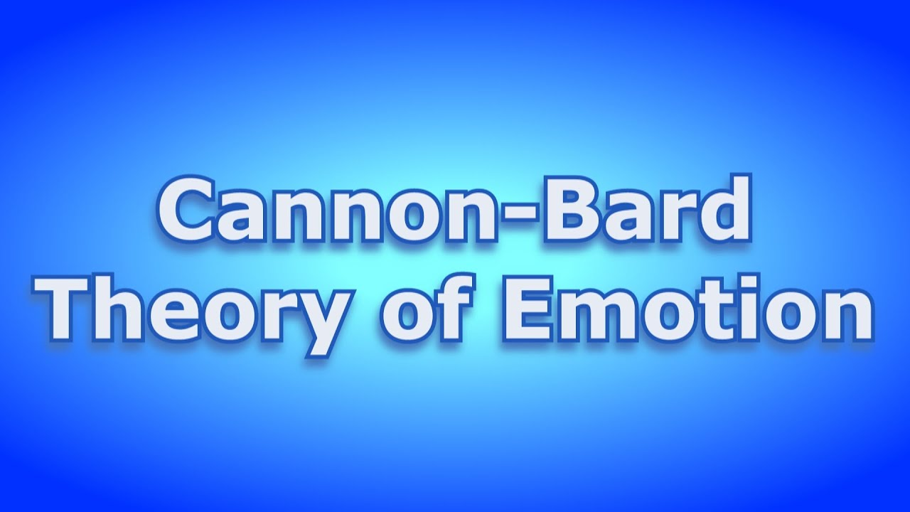 cannon theory of emotion
