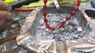 Osmanlı ateş kehribar kül testi