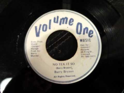 Barry Bryson - No Tek It So - Volume One 80s