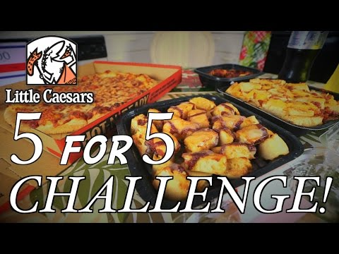 LITTLE CAESAR'S 5 FOR 5 CHALLENGE