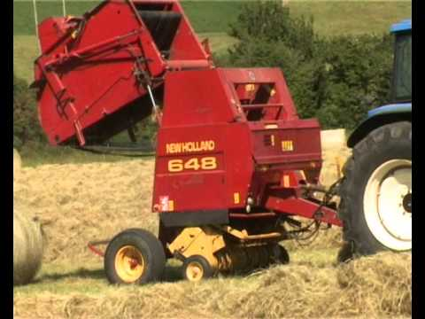 new holland tm 150 with nh 648 baler youtube rh youtube com New Holland Balers Parts new holland 658 round baler specs