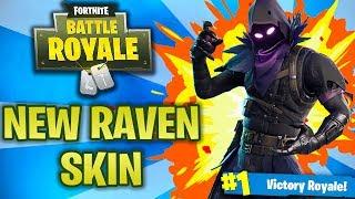 NEW Raven Skin! - Fortnite Battle Royale Online Gameplay! (Fortnite BR)
