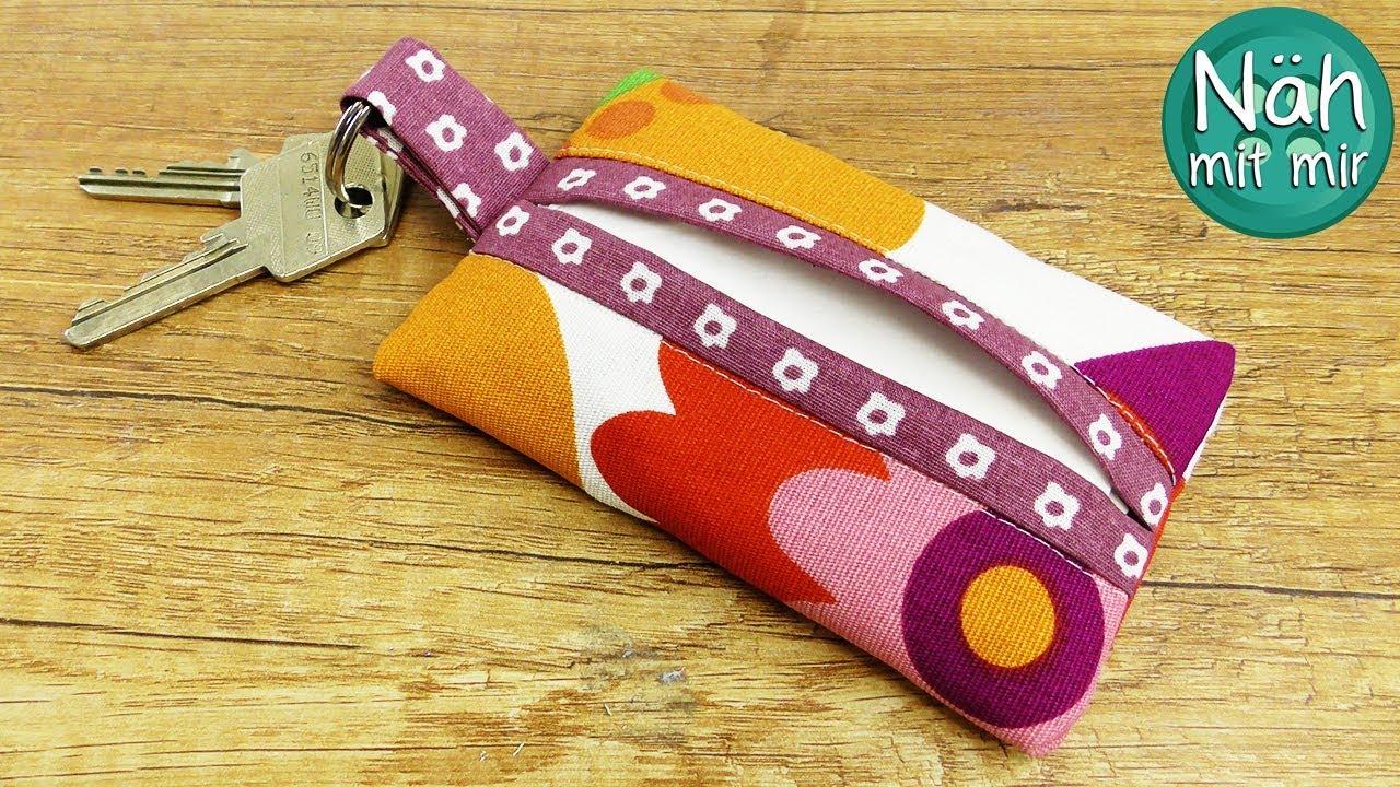 Taschentüchertasche nähen - Schlüsselanhänger  Nähen für Anfänger  Nähen  Ideen  Näh mit mir!