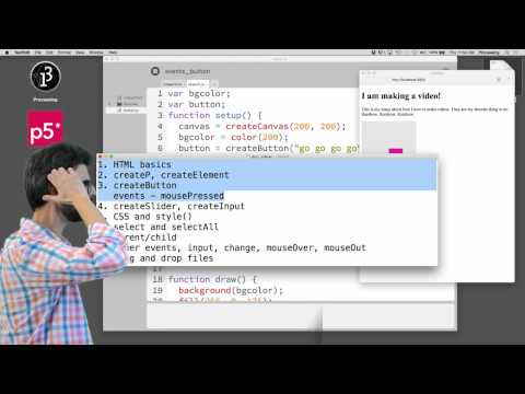 Live Stream #7.1: HTML / CSS / DOM With P5.js - Part 1