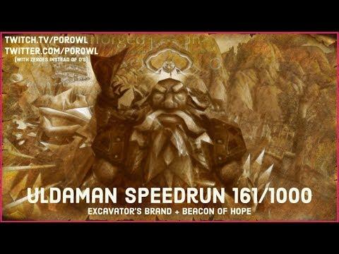 Uldaman Speedrun 161/1000 - Excavator's Brand & Beacon of Hope Drop!
