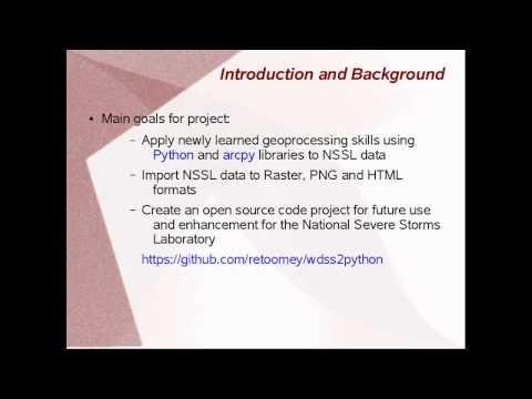 GIS 540 GIS Programming Video 1