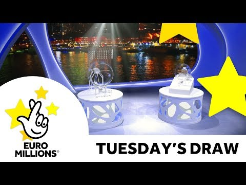 The National Lottery Tuesday 'EuroMillions' draw results from 21st August 2018