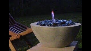 How to make a Concrete Fire bowl