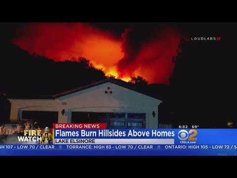 Holy Fire Burns Into Riverside County Overnight