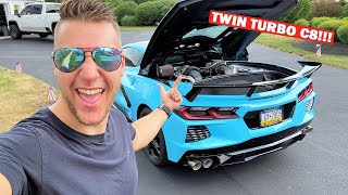 FIRST DRIVE IN MY TWIN TURBO C8 CORVETTE!!! *It's PERFECT!*
