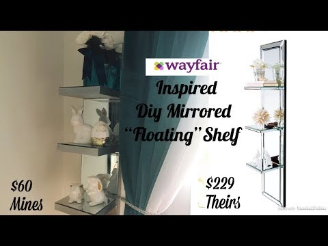 "(Wayfair Inspired) Dollar Tree Diy Mirror ""Floating"" Shelf"