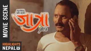 बिपिन कार्की बेहोश | JATRA | Nepali Movie Clip | Bipin Karki | Barsha Raut | Rabindra Baniya