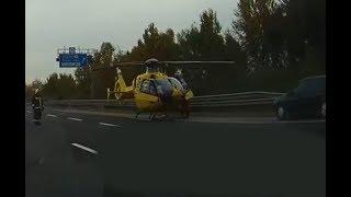 Kemény videó felvétel a ma délutáni tömeg balesetről, ami az M0-M2 csomópontnál történt