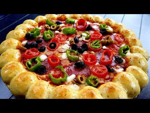 بيتزا رائعة شكلا ومذاقا سهلة/pizza وسريعة التحضير/بيتزا هت/بيتزا ايطالية/وجبة سهلة وسريعة التحضير/ thumbnail