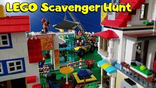 Lego City Scavenger Hunt with Benny Space Squad Minifigures
