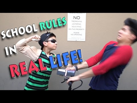 Thumbnail: SCHOOL RULES IN REAL LIFE!