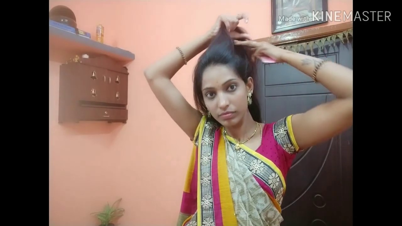 Beautiful and easy Hairstyle in kannada