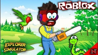 ROBLOX indonesia #108 Explorer Simulator | Update PETS dan Ketemu Ular di Rawa