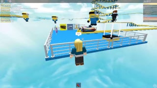 (ROBLOX) Rocket Cart Ride into the Minions for ADMIN!