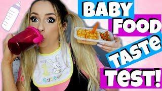 I TRY BABY FOOD & BABY SNACKS - Taste Test!!!
