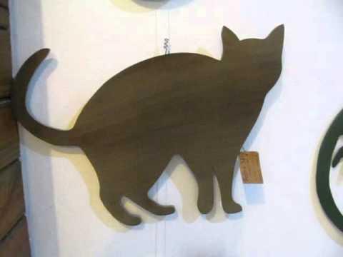 Gato Recorte em Madeira MDF Perfil de Gato em Pé Para Decoração Pet Feito à  Mão corte Manual 99e337eec3