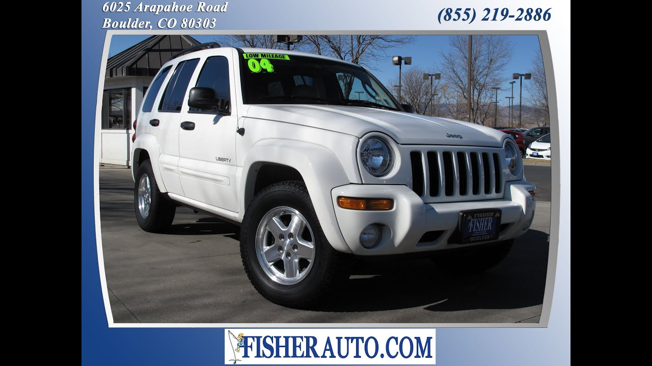 2004 Jeep Liberty Limited White | $9,900* | Boulder, Colorado | Fisher Auto  (Stock #PC6717A)