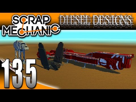 Scrap Mechanic Gameplay :EP135: FAN CREATIONS: Republic Ship, Kylo Ren, AT-AT Walker, & MORE! (HD)
