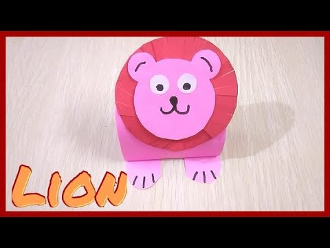 build your own cute Lion king out of paper craft easy origami tiger