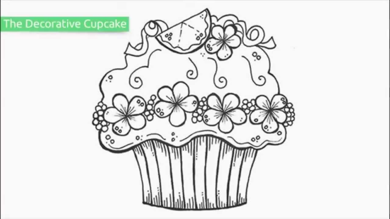 top 20 free printable cupcake coloring pages youtube - Cupcakes Coloring Pages