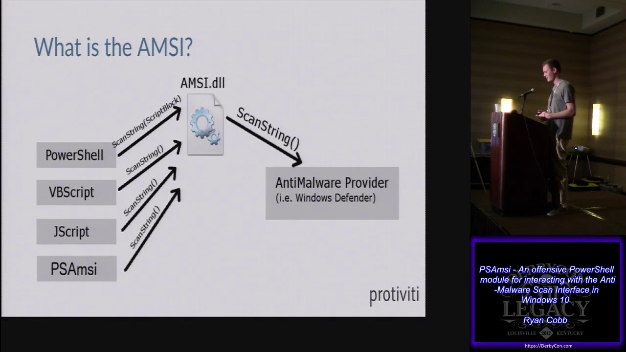 T104 PSAmsi An offensive PowerShell module for interacting with the Anti  Malware Scan Interface in W