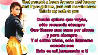 Oath Cher Lloyd ft. Becky G Lyrics in Spanish and English