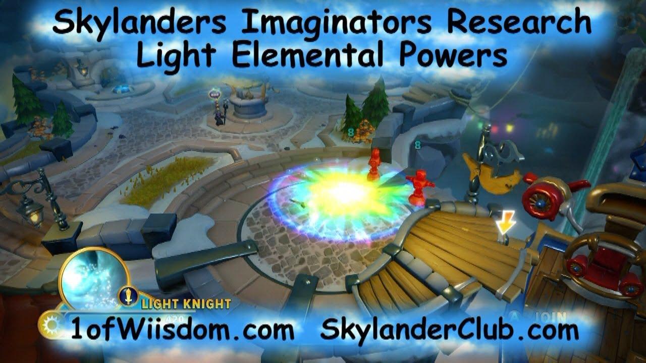 skylanders imaginators research light elemental powers youtube