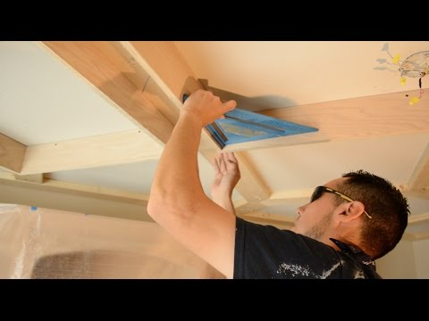 Coffered Ceiling - Wrapping the Framing with Red Oak