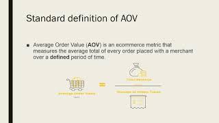 AOV - Average Order Value (E-Commerce Metric)