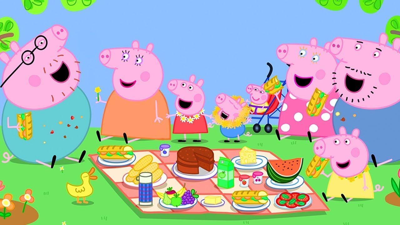 Peppa Pig in Hindi - Peppa Pig Picnic Mana Rahi Hai  - हिंदी Kahaniya - Hindi Cartoons for Kids