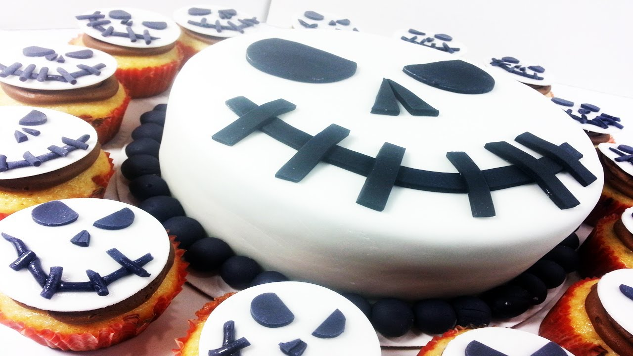 Jack Skellington Nightmare Before Christmas Cake & Cupcakes - How ...