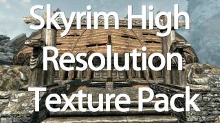 skyrim high resolution texture pack comparison