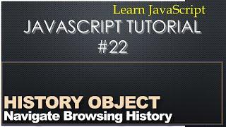 JavaScript History Object - Learn JavaScript