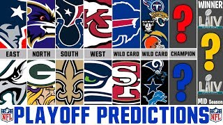 NFL Playoff Predictions 2019 (MID SEASON PREDICTIONS) Super Bowl 54 Prediction
