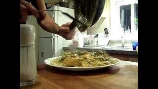 Cajun Chicken Cream Sauce Bowtie Pasta  Aparagus Tips Chef John The Ghetto Gourmet